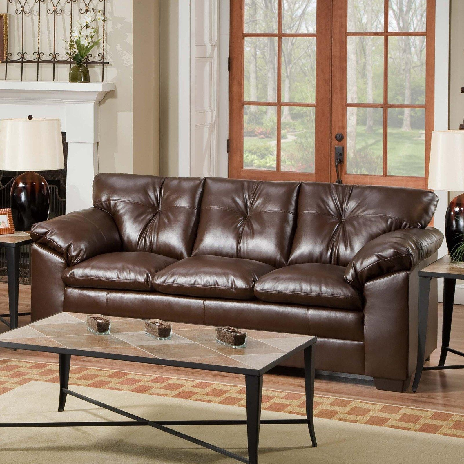 Pictures Of Living Room With Brown Leather Couch – Creditrestore With Simmons Bonded Leather Sofas (View 11 of 20)