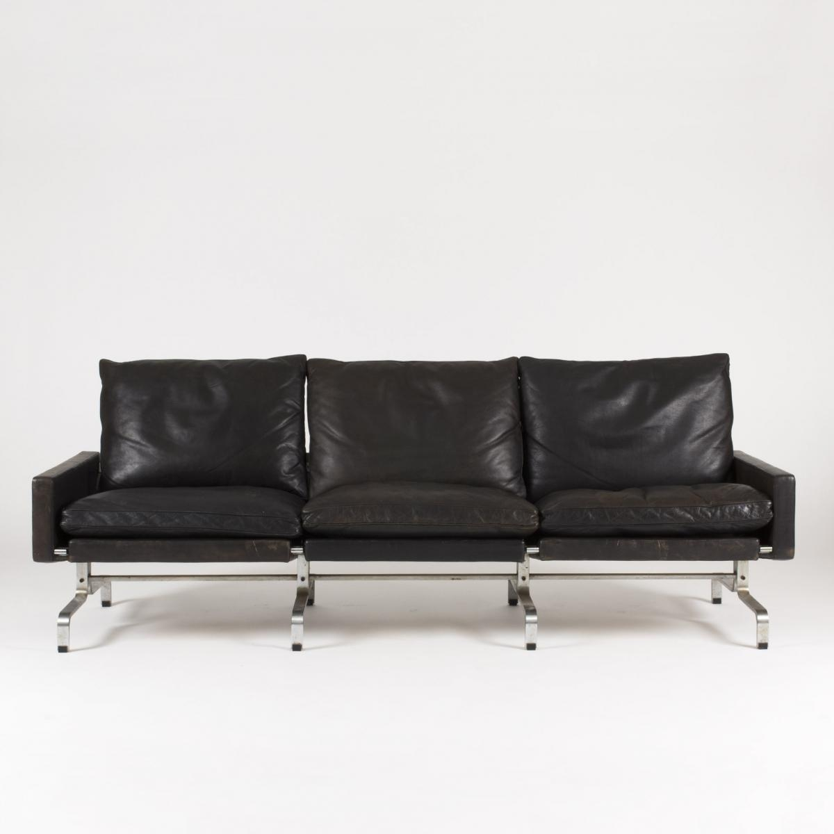 Pk 31 3 Seater Leather Sofapoul Kjaerholm For E (Image 10 of 20)
