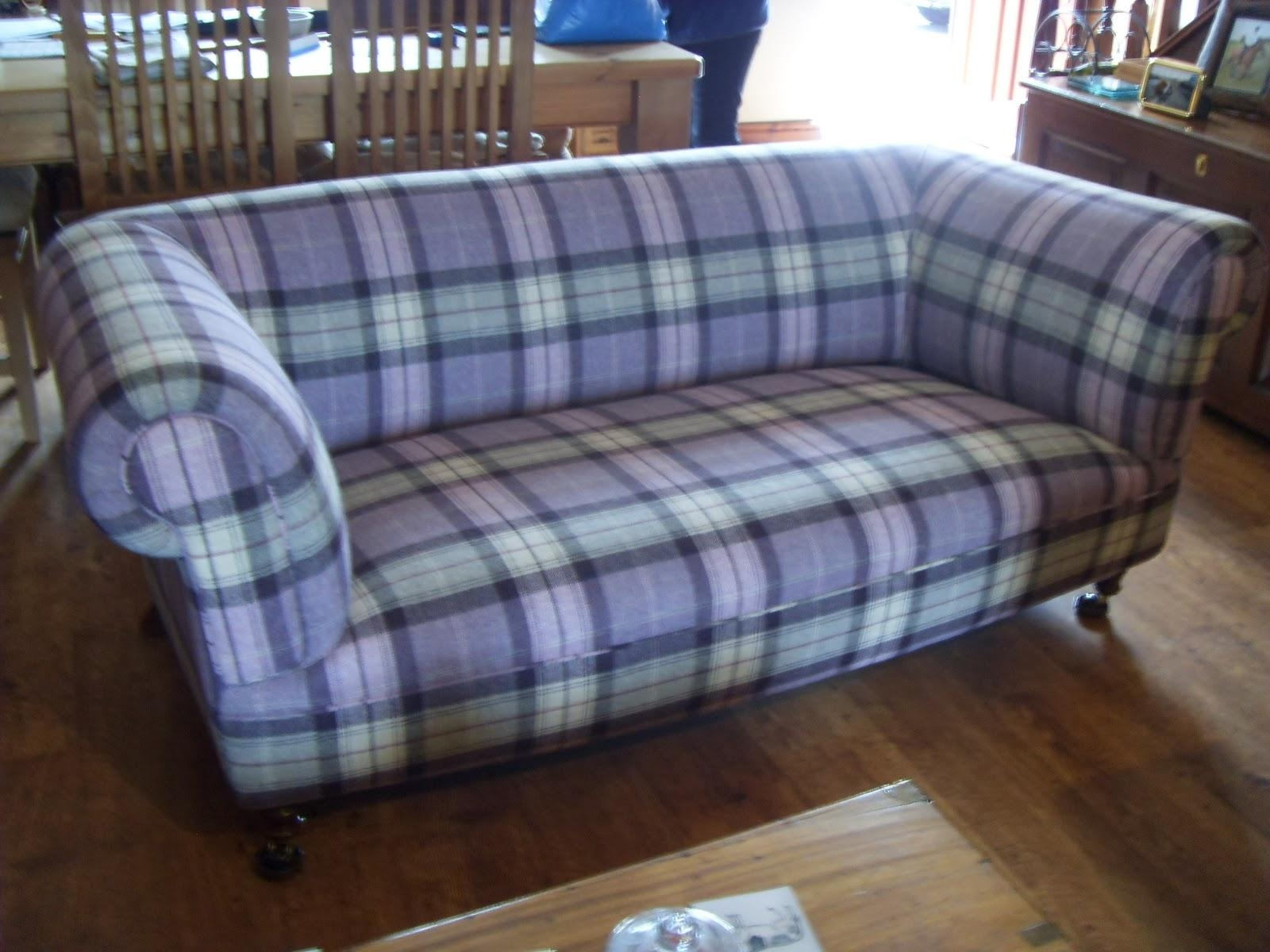 Plaid Couch | Home Decor & Furniture In Blue Plaid Sofas (Image 12 of 20)