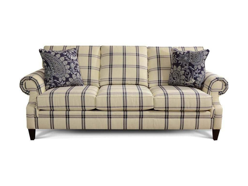 Plaid Sofa ~ Uballs For Blue Plaid Sofas (Image 13 of 20)