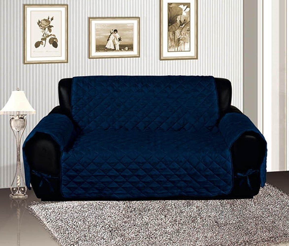 Plain Blue Couch Slipcovers To Show Too Much Of The Room Before In Navy Blue Slipcovers (Image 18 of 20)