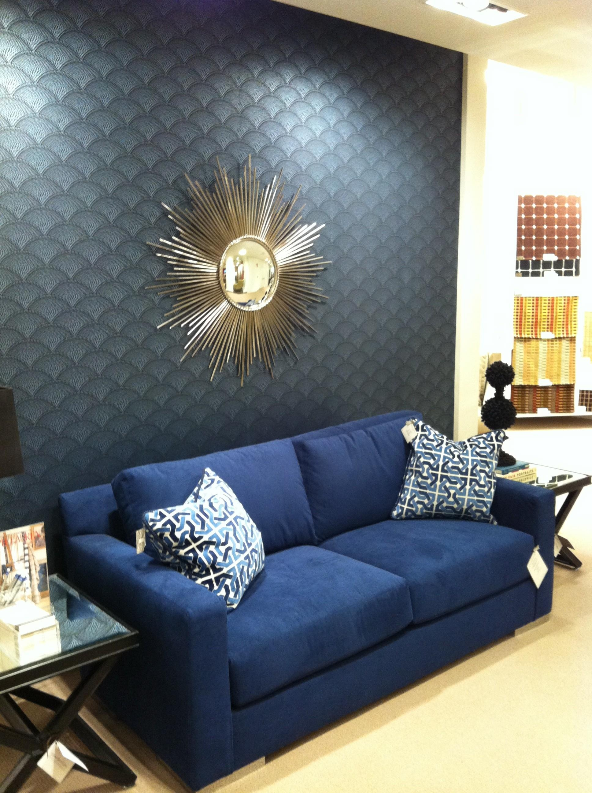 Plain Blue Couch Slipcovers To Show Too Much Of The Room Before With Regard To Navy Blue Slipcovers (Image 19 of 20)