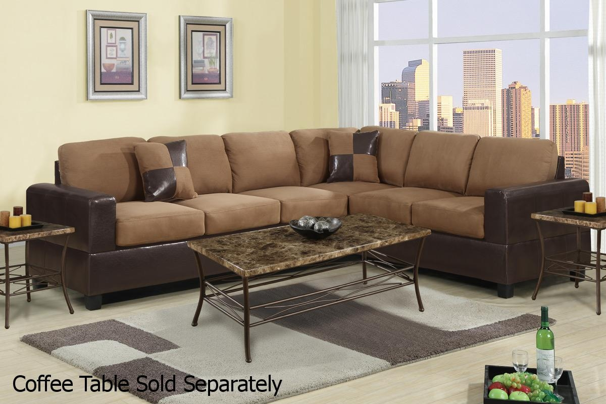 Playa Brown Leather Sectional Sofa – Steal A Sofa Furniture Outlet Within Sectional Sofas Los Angeles (Image 16 of 20)