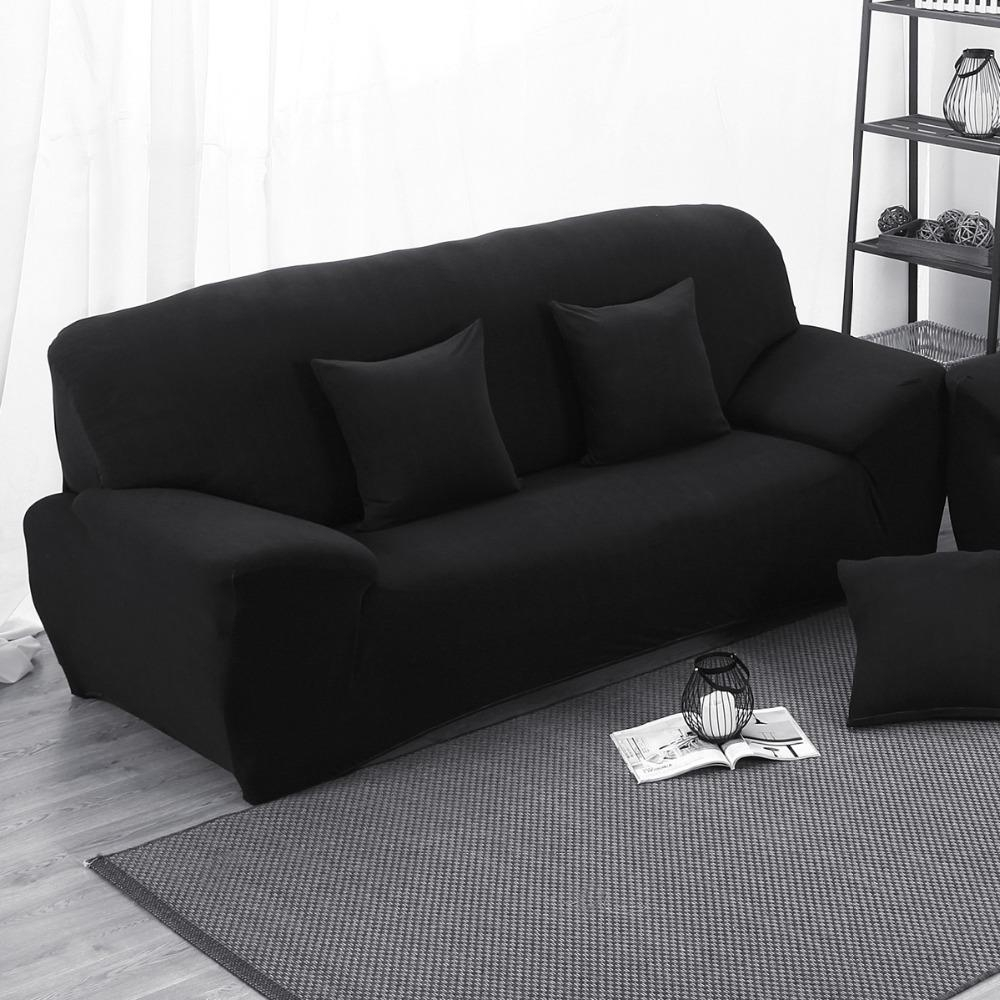 Por Black Sofa Cover Lots From With Regard To