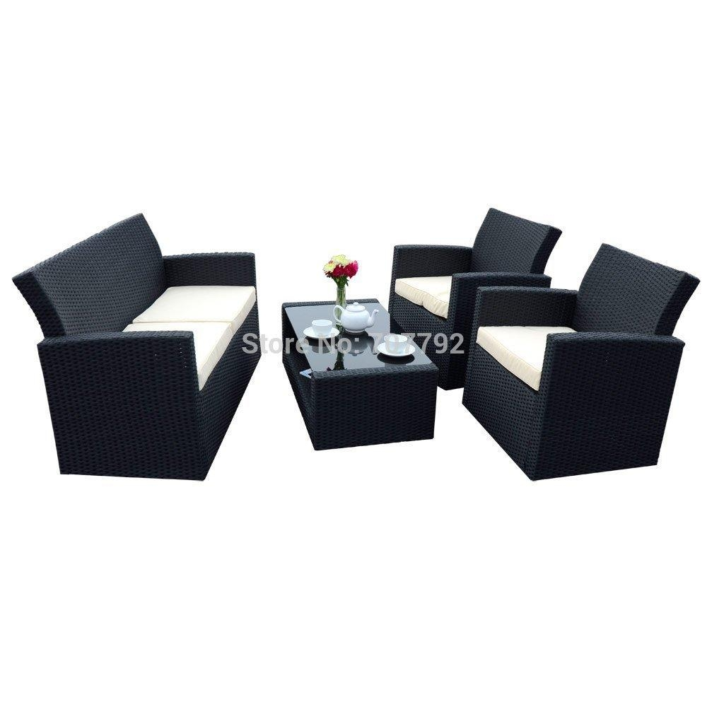 Popular Black Wicker Furniture Buy Cheap Black Wicker Furniture With Regard To Black Wicker Sofas (Image 19 of 20)