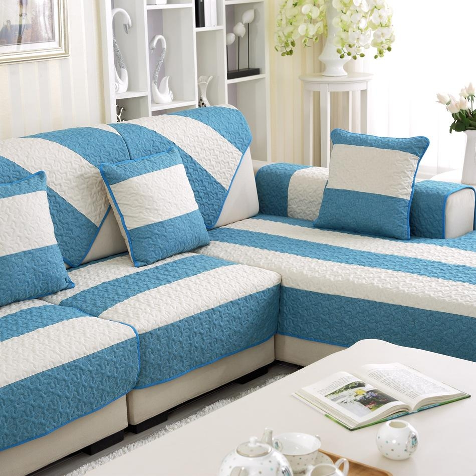 Popular Blue Couch Cover Buy Cheap Blue Couch Cover Lots From Pertaining To Blue Sofa Slipcovers (Image 12 of 20)