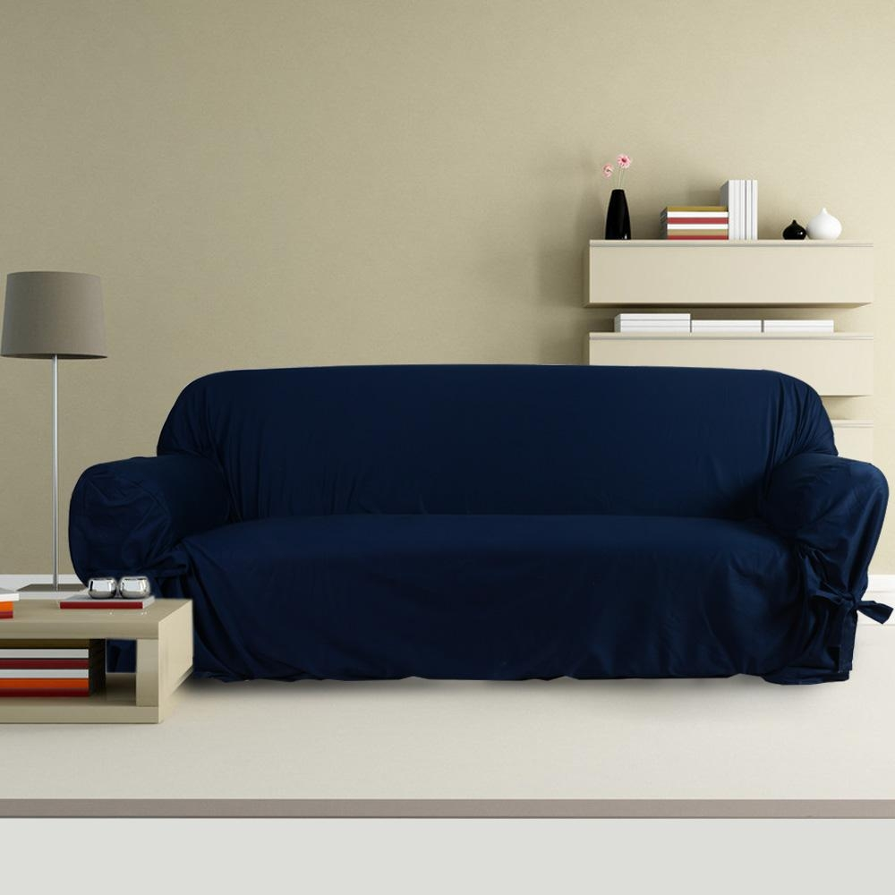 Popular Blue Couch Slipcover Buy Cheap Blue Couch Slipcover Lots Within Blue Slipcover Sofas (Image 14 of 20)