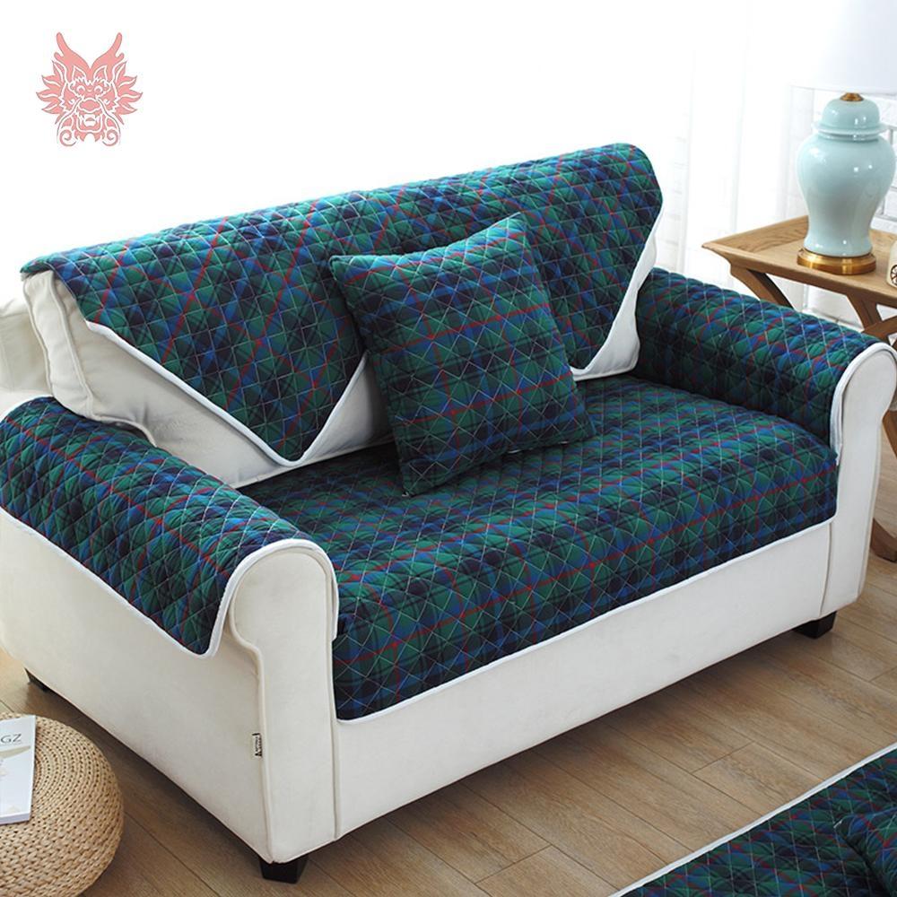 Popular Blue Plaid Sofa Buy Cheap Blue Plaid Sofa Lots From China Regarding Blue Plaid Sofas (View 12 of 20)