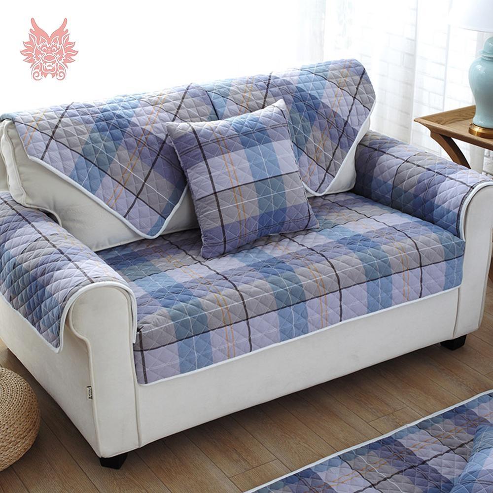 Popular Blue Plaid Sofa Buy Cheap Blue Plaid Sofa Lots From China Regarding Blue Plaid Sofas (View 4 of 20)
