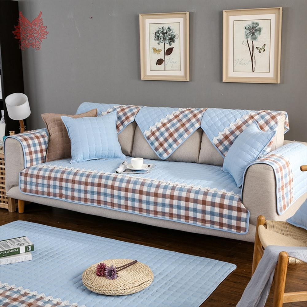 Popular Blue Plaid Sofa Buy Cheap Blue Plaid Sofa Lots From China Within Blue Plaid Sofas (Image 16 of 20)