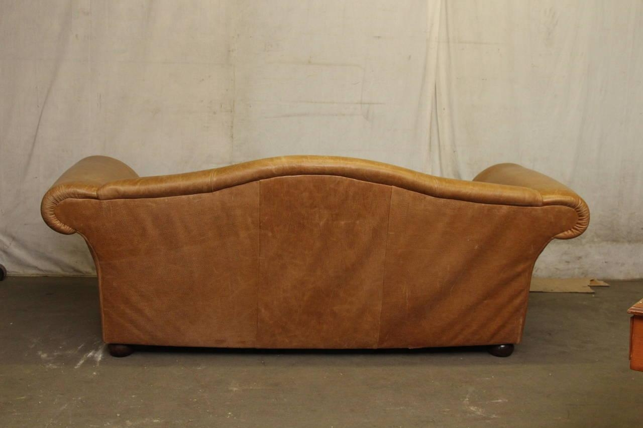 Popular Down Filled Leather Sofa And Hollywood Regency Leather With Down Filled Sectional Sofa (View 14 of 15)