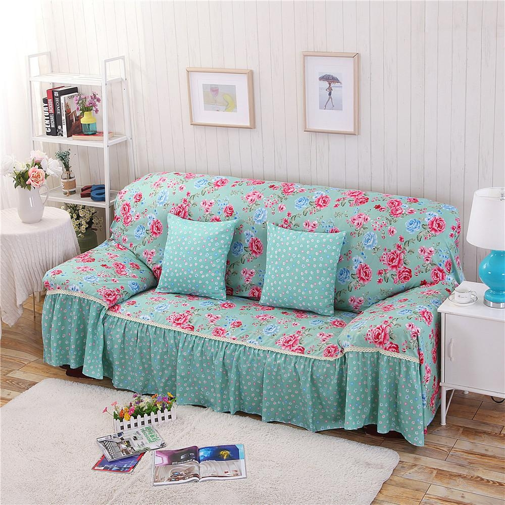 Popular Floral Sofa Cover Buy Cheap Floral Sofa Cover Lots From Regarding Floral Sofa Slipcovers (Image 13 of 20)