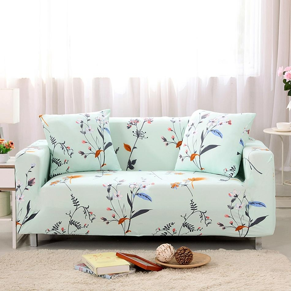 Popular Floral Sofa Slipcover Buy Cheap Floral Sofa Slipcover Lots Intended For Floral Sofa Slipcovers (Image 14 of 20)