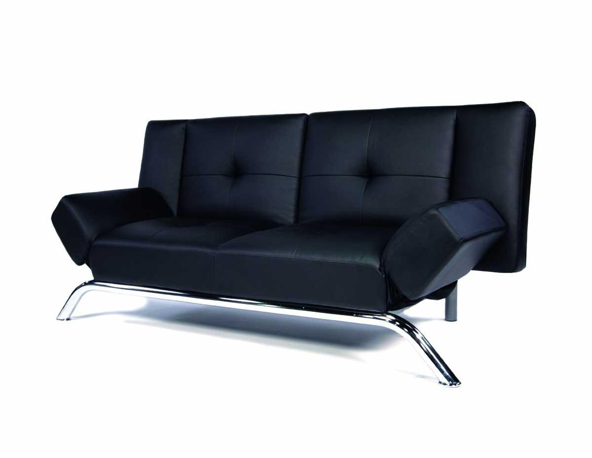 Popular Leather Sofa Black With Black Sofas For Modern And Classic For Small Black Sofas (Image 8 of 20)