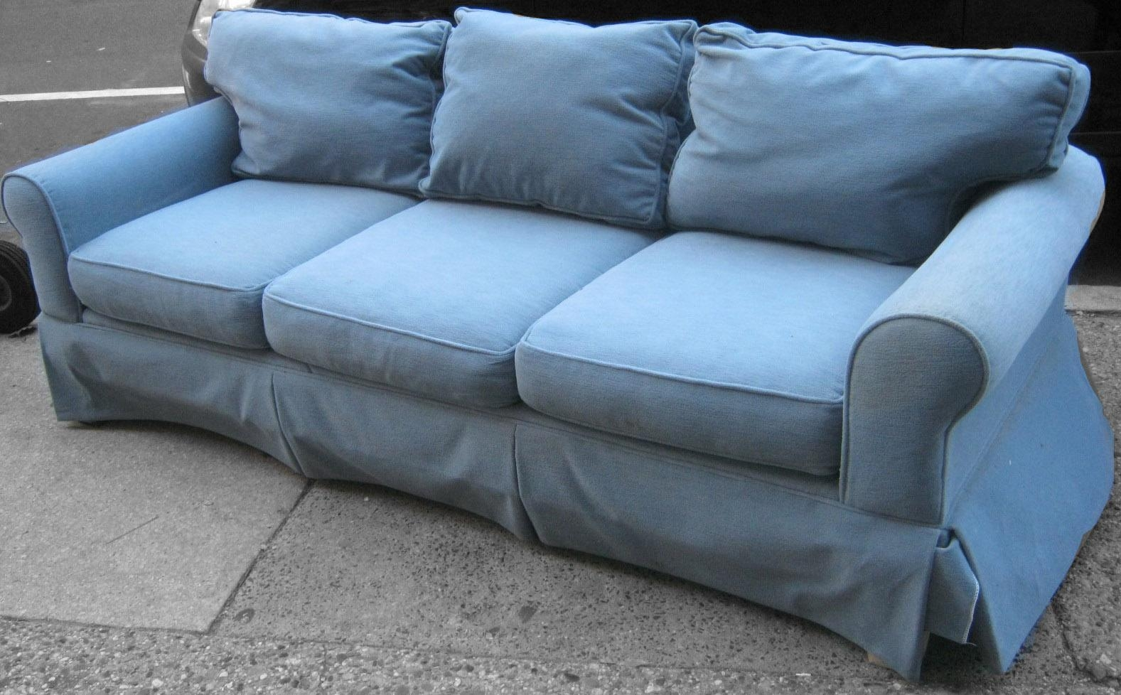 Popular Light Blue Sectional Sofa 74 In Pieces Individual With With Sky Blue Sofas (View 5 of 20)