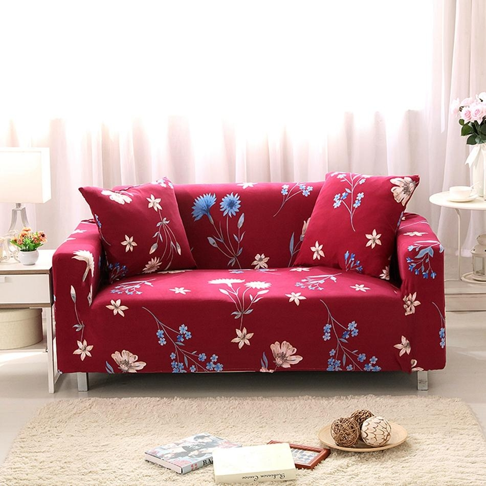 Popular Red Sofa Slipcover Buy Cheap Red Sofa Slipcover Lots From Pertaining To Cheap Red Sofas (Image 16 of 20)