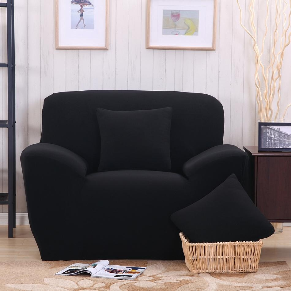 Popular Sofa Covers Black Buy Cheap Sofa Covers Black Lots From Inside Sofas With Black Cover (View 5 of 20)