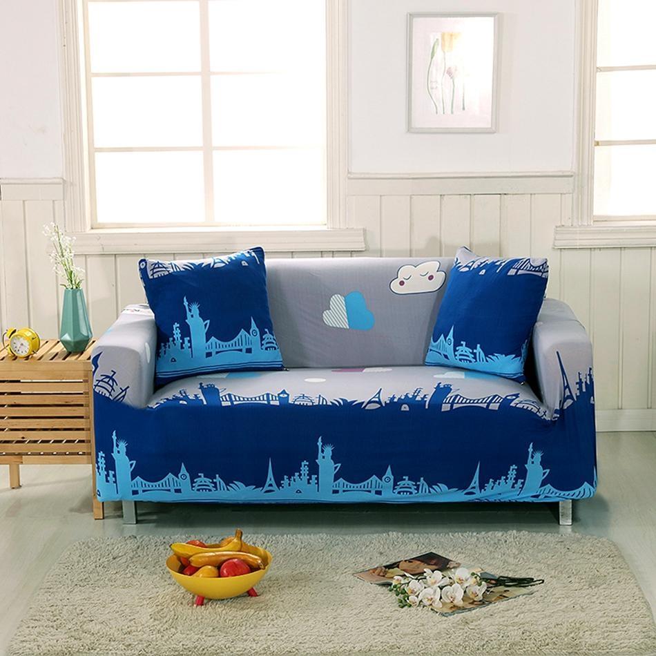Popular Sofa Slipcovers Blue Buy Cheap Sofa Slipcovers Blue Lots Throughout Blue Sofa Slipcovers (Image 17 of 20)