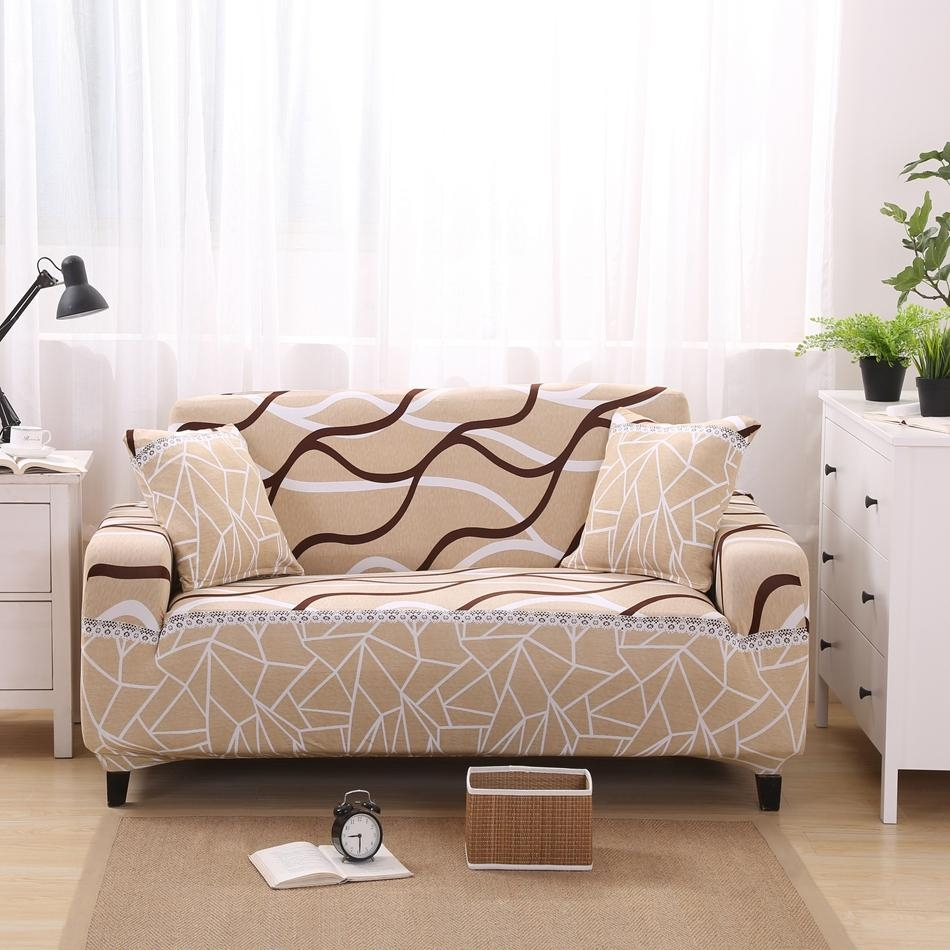 Popular Striped Couch Covers Buy Cheap Striped Couch Covers Lots Pertaining To Striped Sofa Slipcovers (Image 14 of 20)
