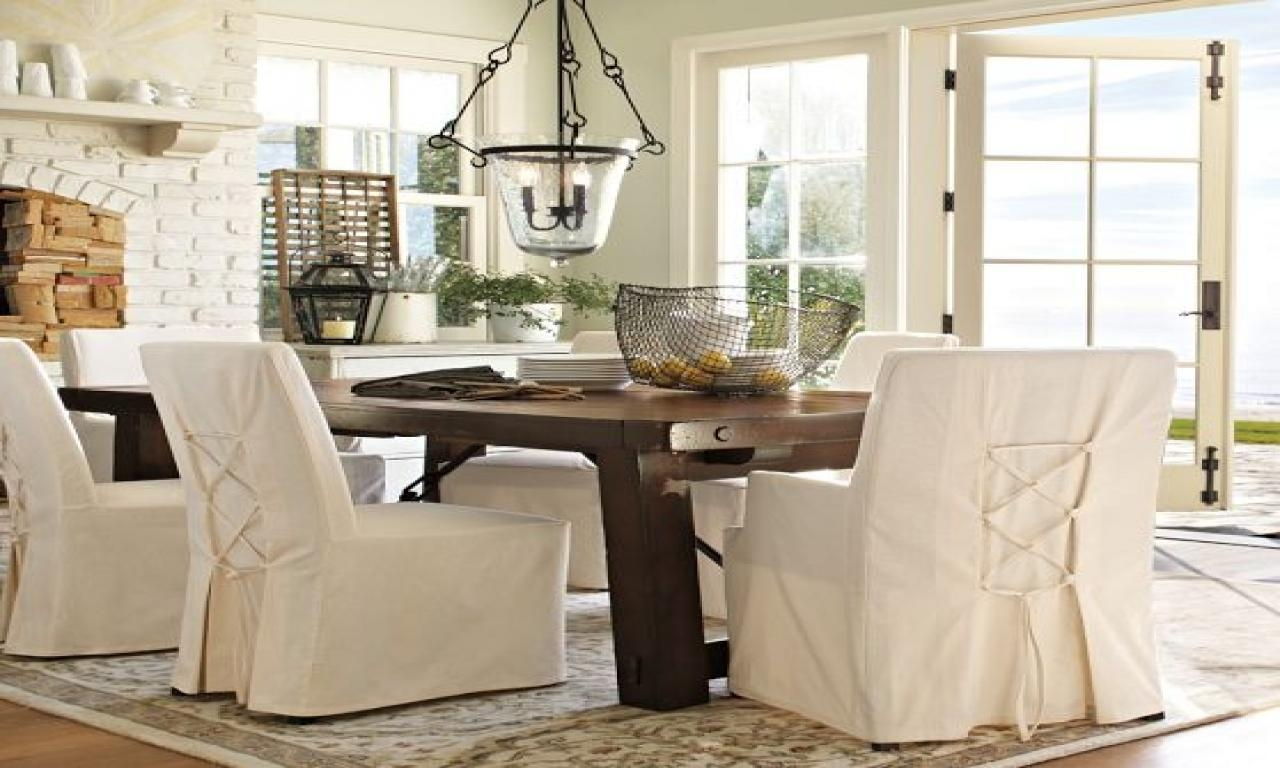 Pottery Barn Dining Room Chair Slipcovers – Alliancemv Regarding Pottery Barn Chair Slipcovers (Image 14 of 20)