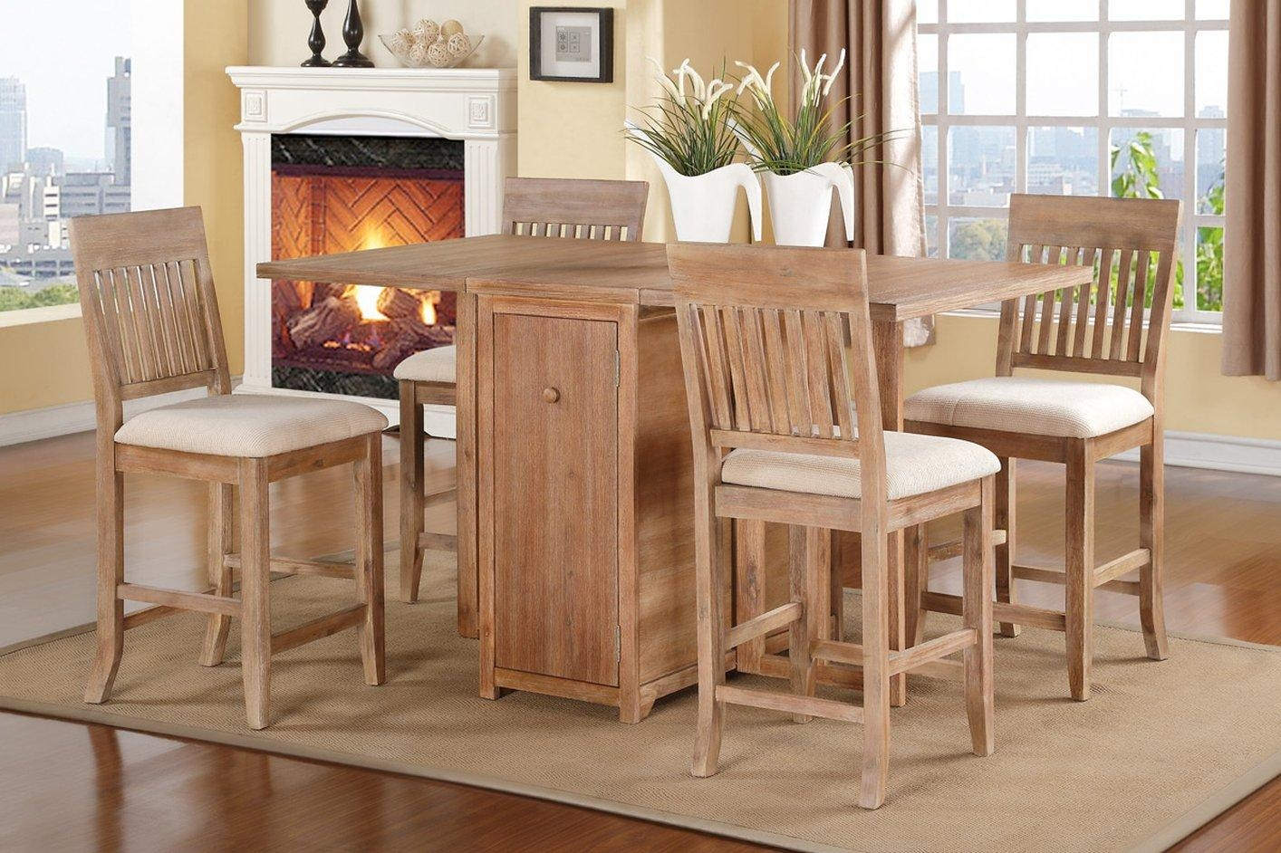 Poundex F2418 Brown Wood Dining Table – Steal A Sofa Furniture Throughout Dining Table With Sofa Chairs (Image 16 of 20)