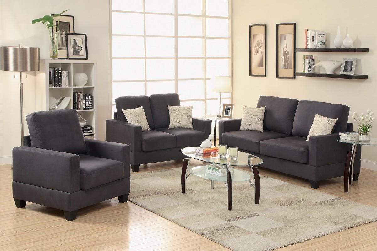 Poundex Furniture F7911 3 Pc Sofa Love Chair Set For Poundex Sofas (Image 15 of 20)