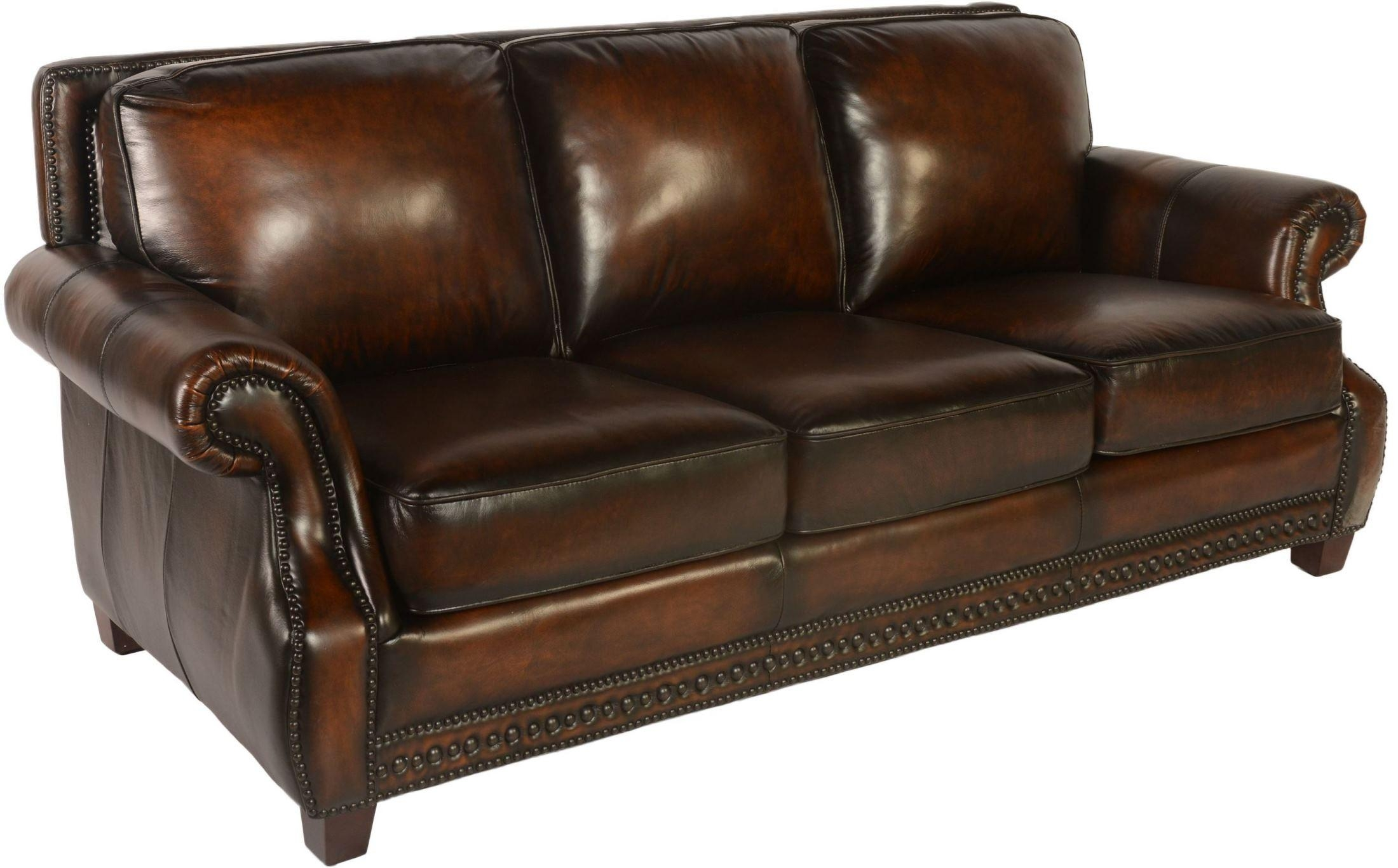 Prato Cocoa Brompton Leather Sofa From Lazzaro | Coleman Furniture Pertaining To Brompton Leather Sofas (Image 13 of 20)