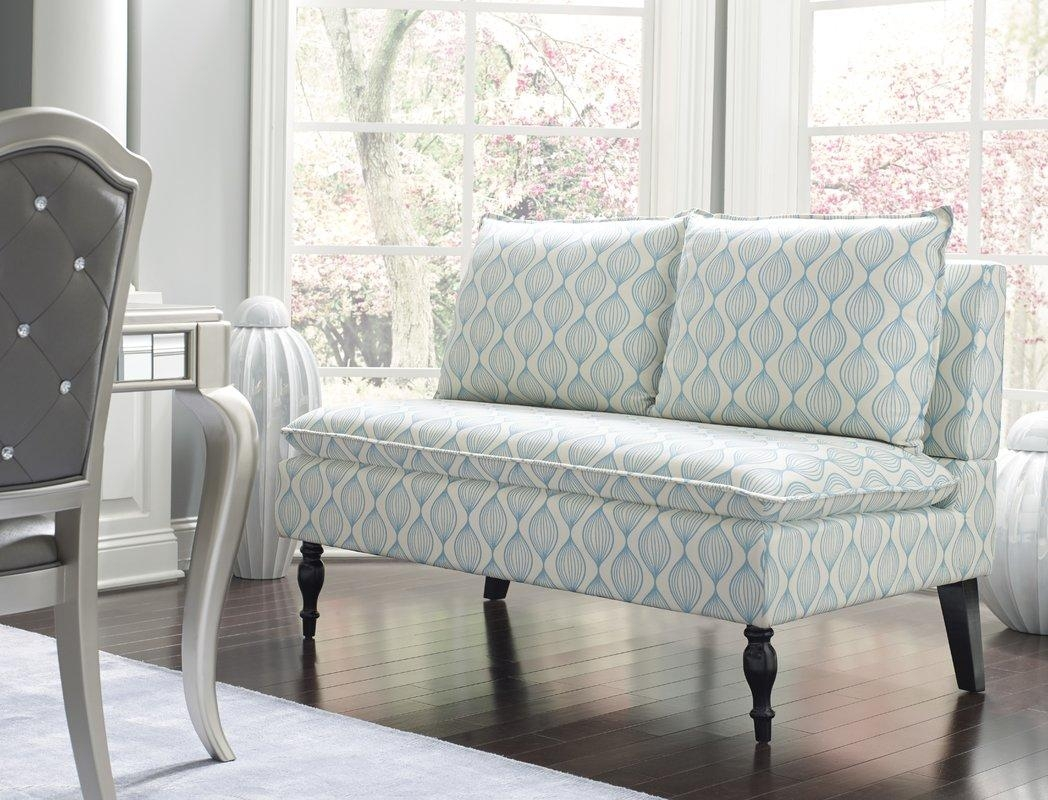 Pri Upholstered Graphic Print Banquette Sofa & Reviews | Wayfair Throughout Banquette Sofas (Image 18 of 20)