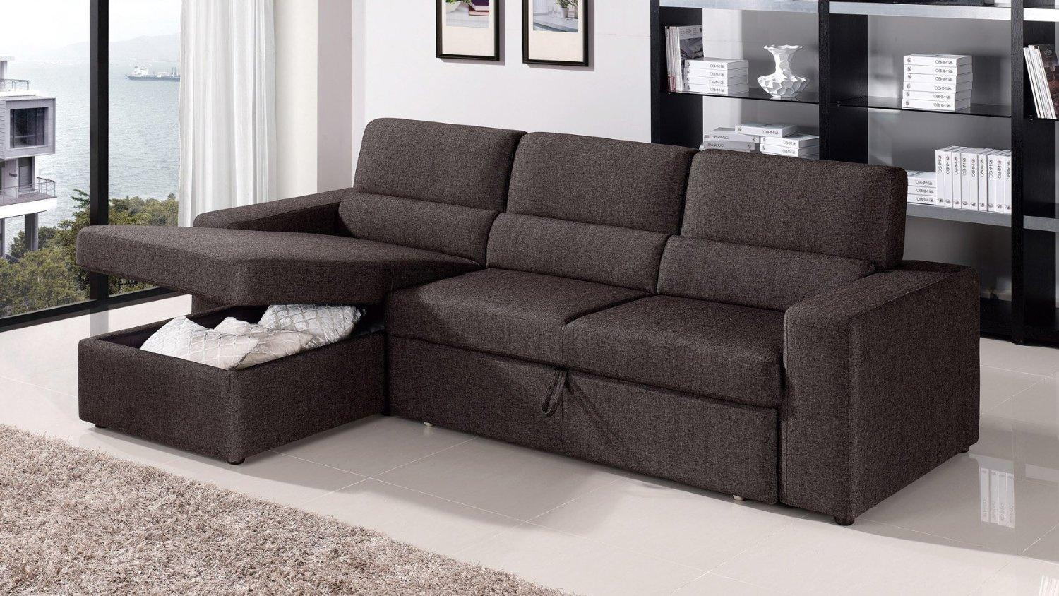Pull Out Sofa Bed With Storage – Destroybmx Throughout Sofa Beds With Storage Chaise (Image 10 of 20)
