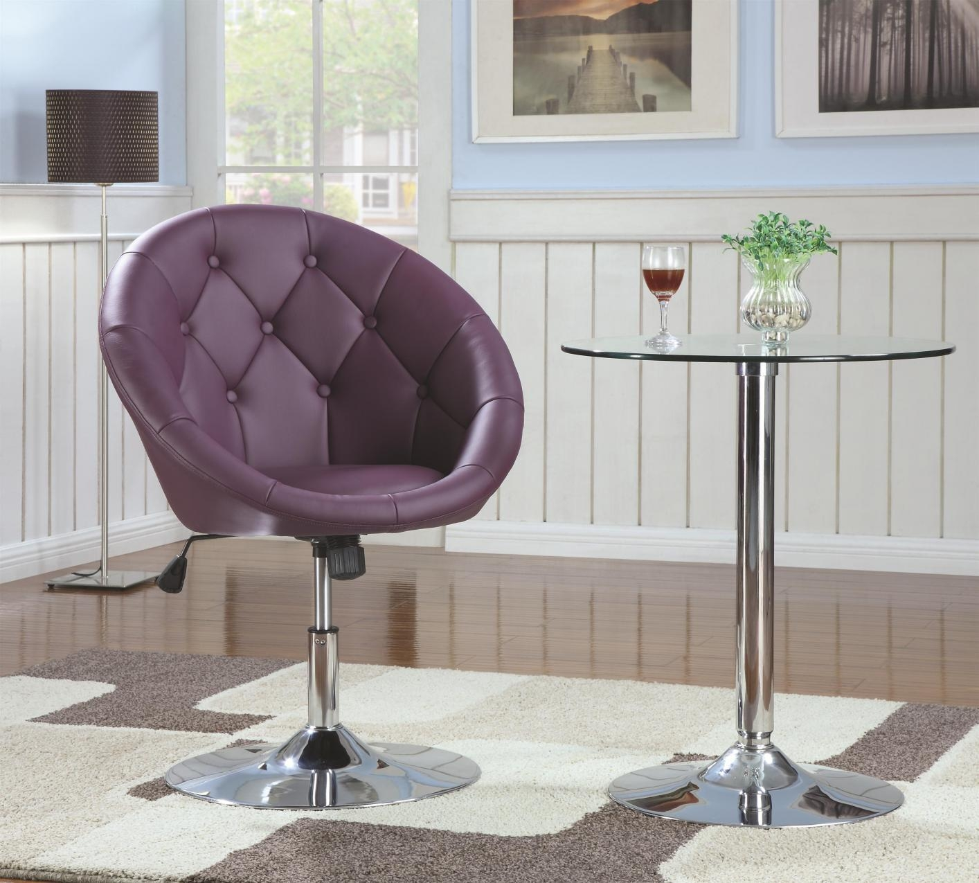 Purple Metal Swivel Chair – Steal A Sofa Furniture Outlet Los For Sofa With Swivel Chair (View 20 of 20)
