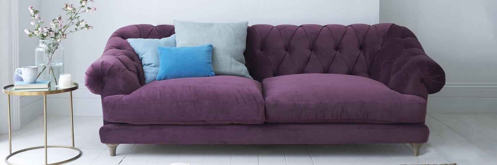 Purple Velvet Sofas | Made In Blighty | Loaf With Velvet Purple Sofas (Image 15 of 20)