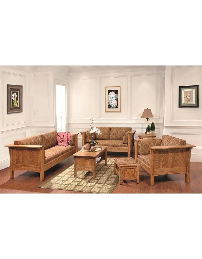 Quality Fabrications Shaker Sofa Chair – South Texas Amish Regarding Shaker Sofas (Image 10 of 20)