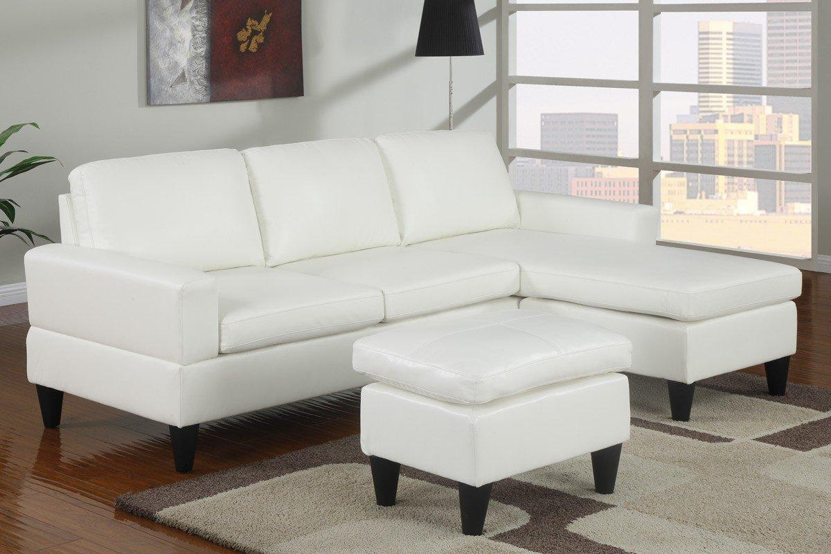 Queen Sleeper Sectional Sofa White Leather Of Chaise Lounge Sofa Intended For Sectional With Ottoman And Chaise (Image 14 of 20)