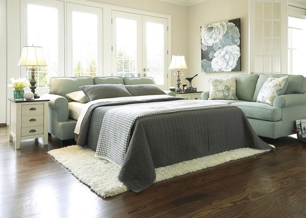 Queen Sofa Sleeper In Seafoam pertaining to Seafoam Sofas