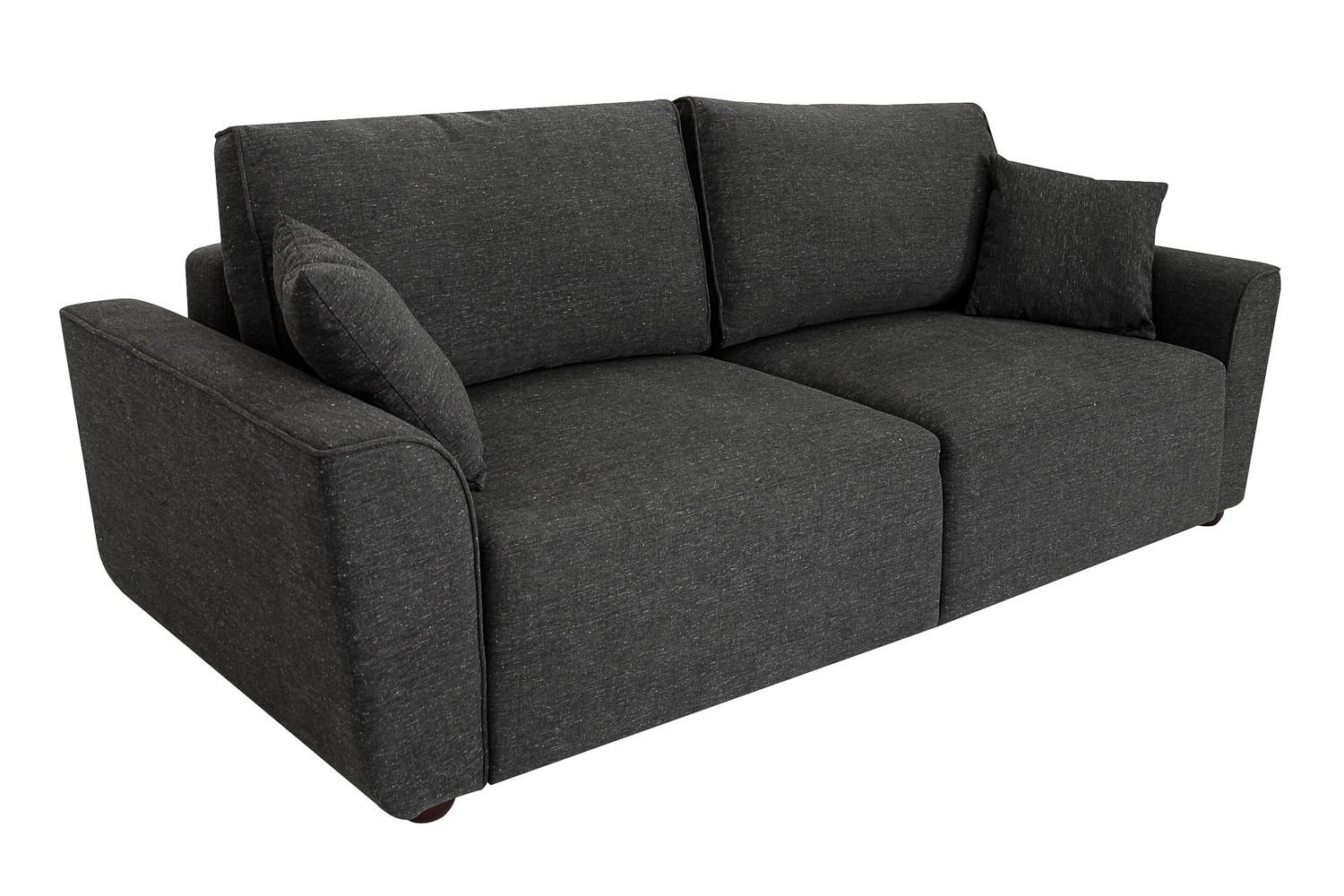 Queen Wallhugger Sofa Bed | Tweed Fabric Sofa Sleeper Evander pertaining to Queen Sofa Beds