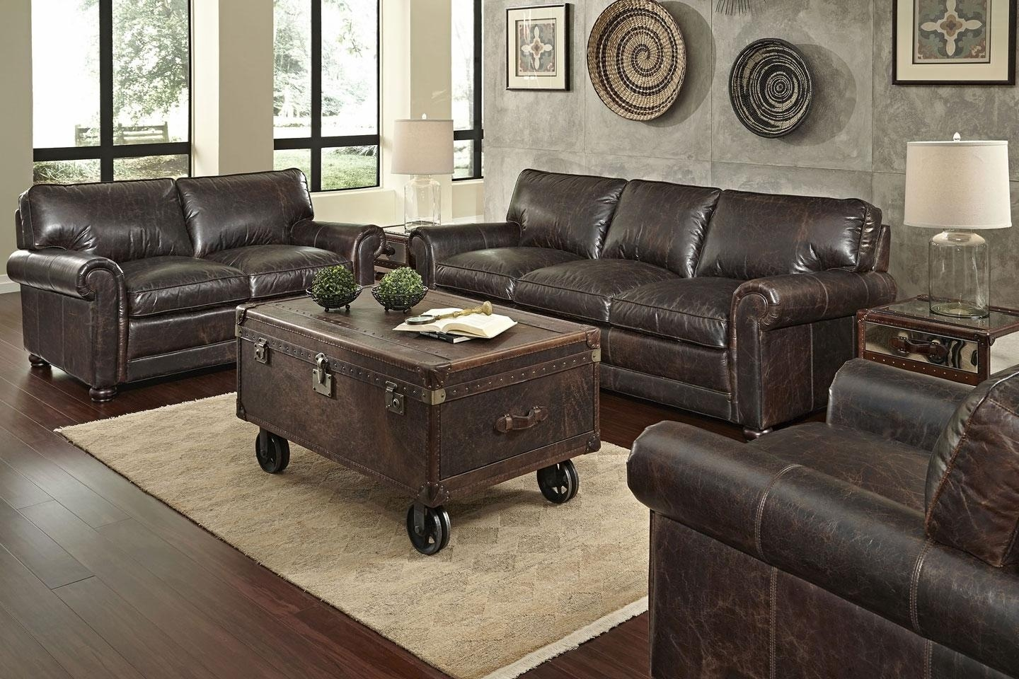"Quick Ship"" 3-Piece Leather Sofa, Loveseat & Chair Set regarding Sofa Loveseat And Chair Set"