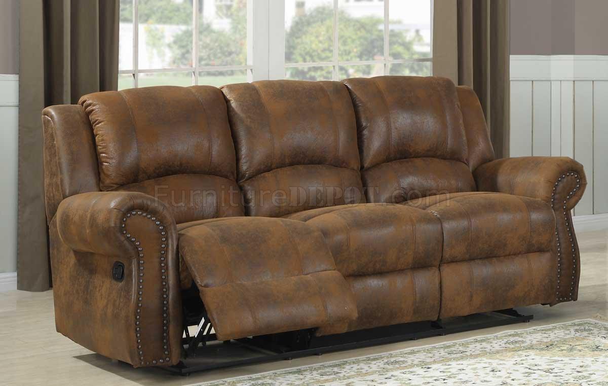 Quinn Motion Sofa – Bomber Jacket Microfiber Homelegance In Bomber Leather Sofas (View 4 of 20)