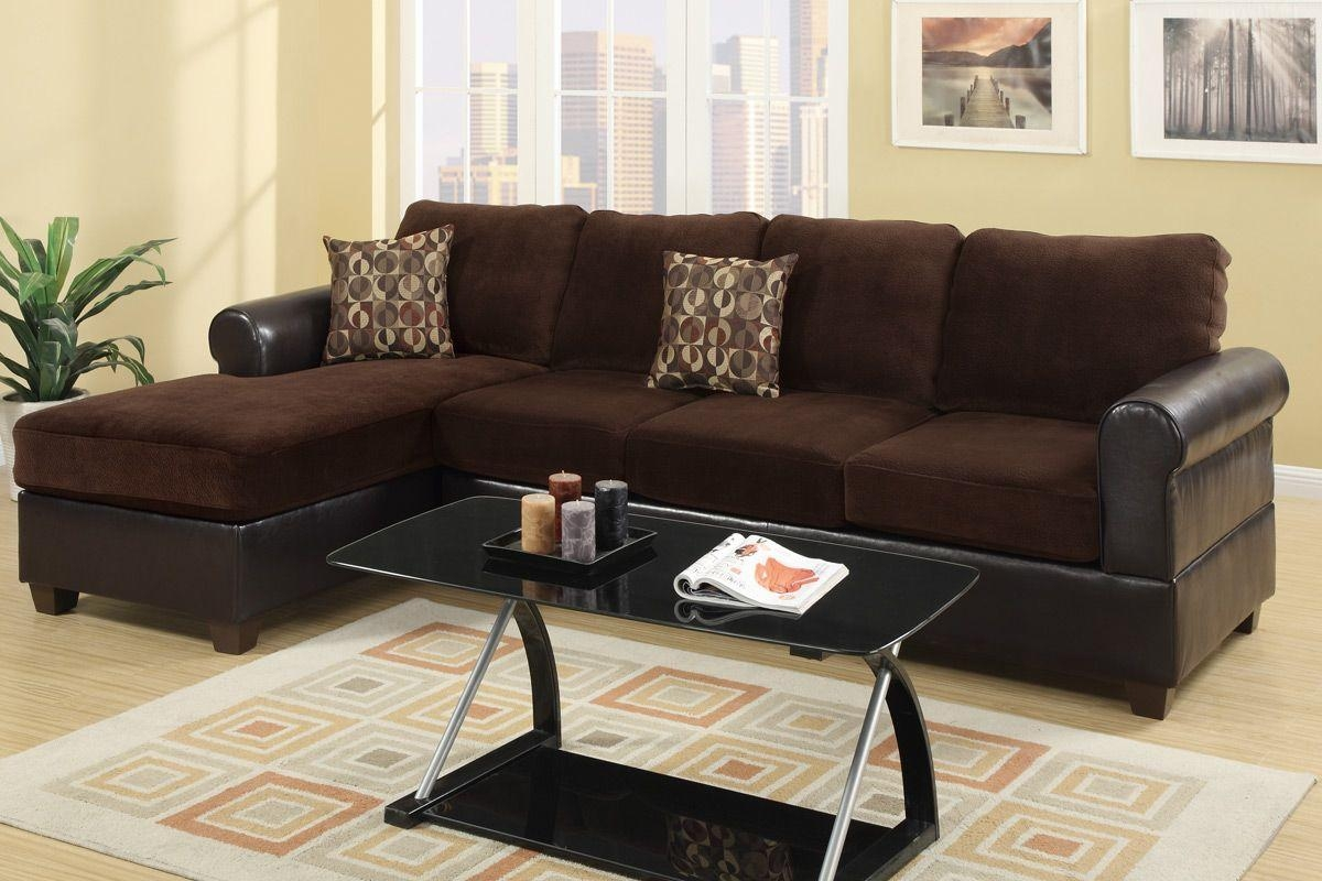Radley Chocolate Microsuede Sectional Sofa – Steal A Sofa Inside Sectional Sofas Los Angeles (Image 18 of 20)