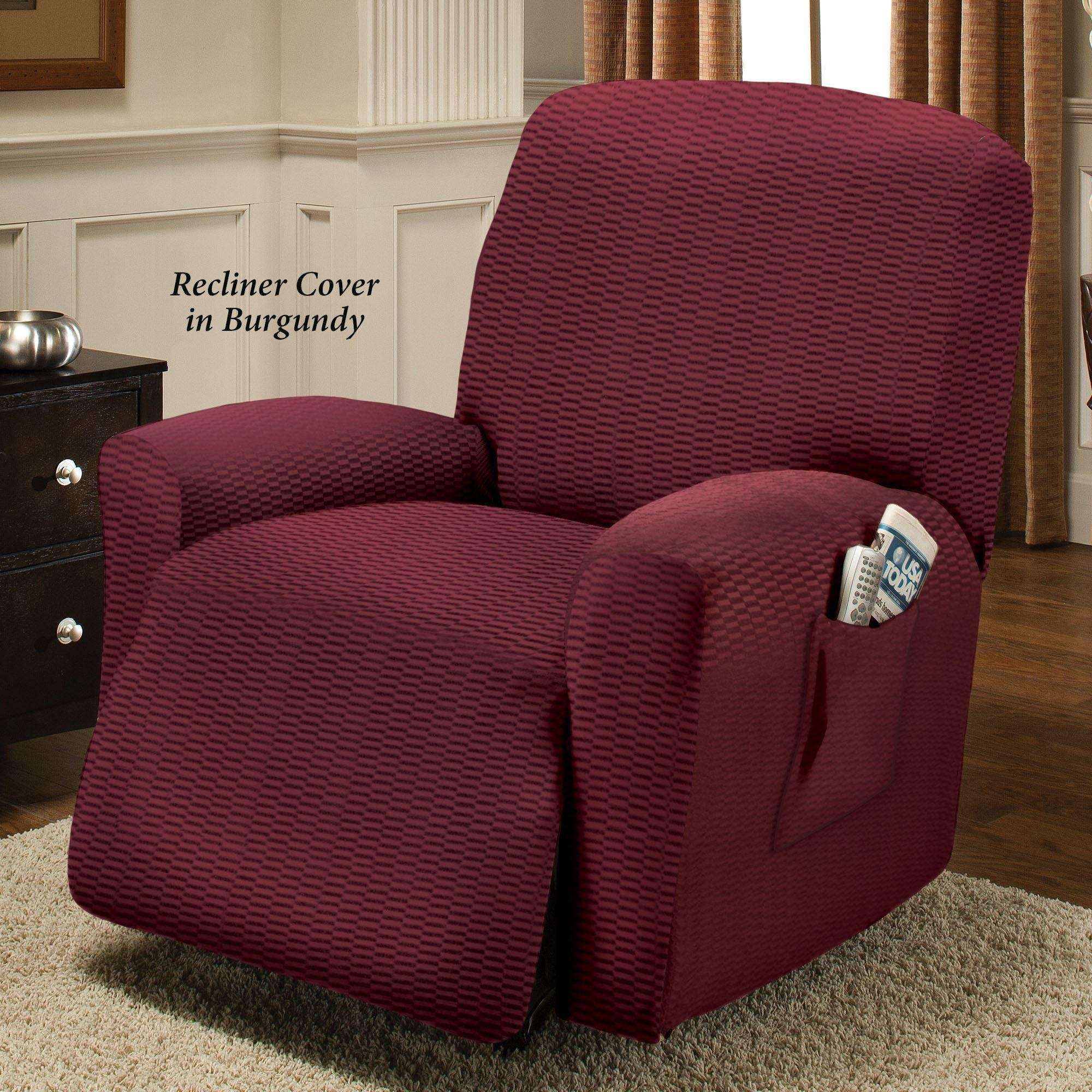 Raise The Bar Stretch Recliner Slipcovers Pertaining To Stretch Covers For Recliners (Image 14 of 20)