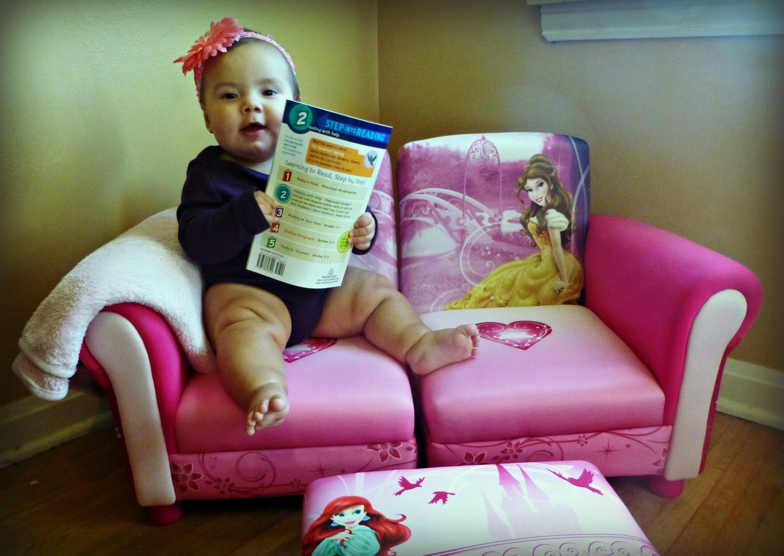 Reading Area Fit For A Princess Throughout Disney Princess Couches (Image 15 of 20)