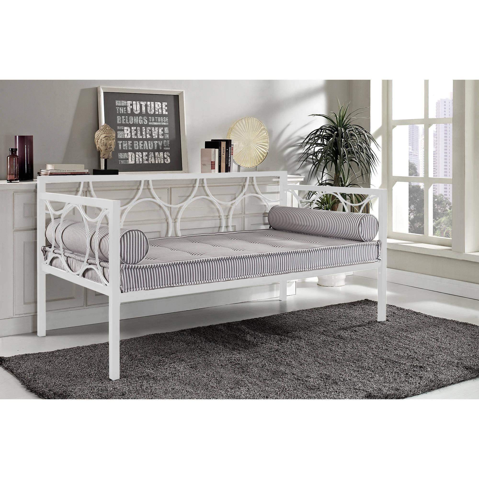 Rebecca Metal Daybed, Multiple Colors – Walmart Pertaining To Sofa Day Beds (View 18 of 20)