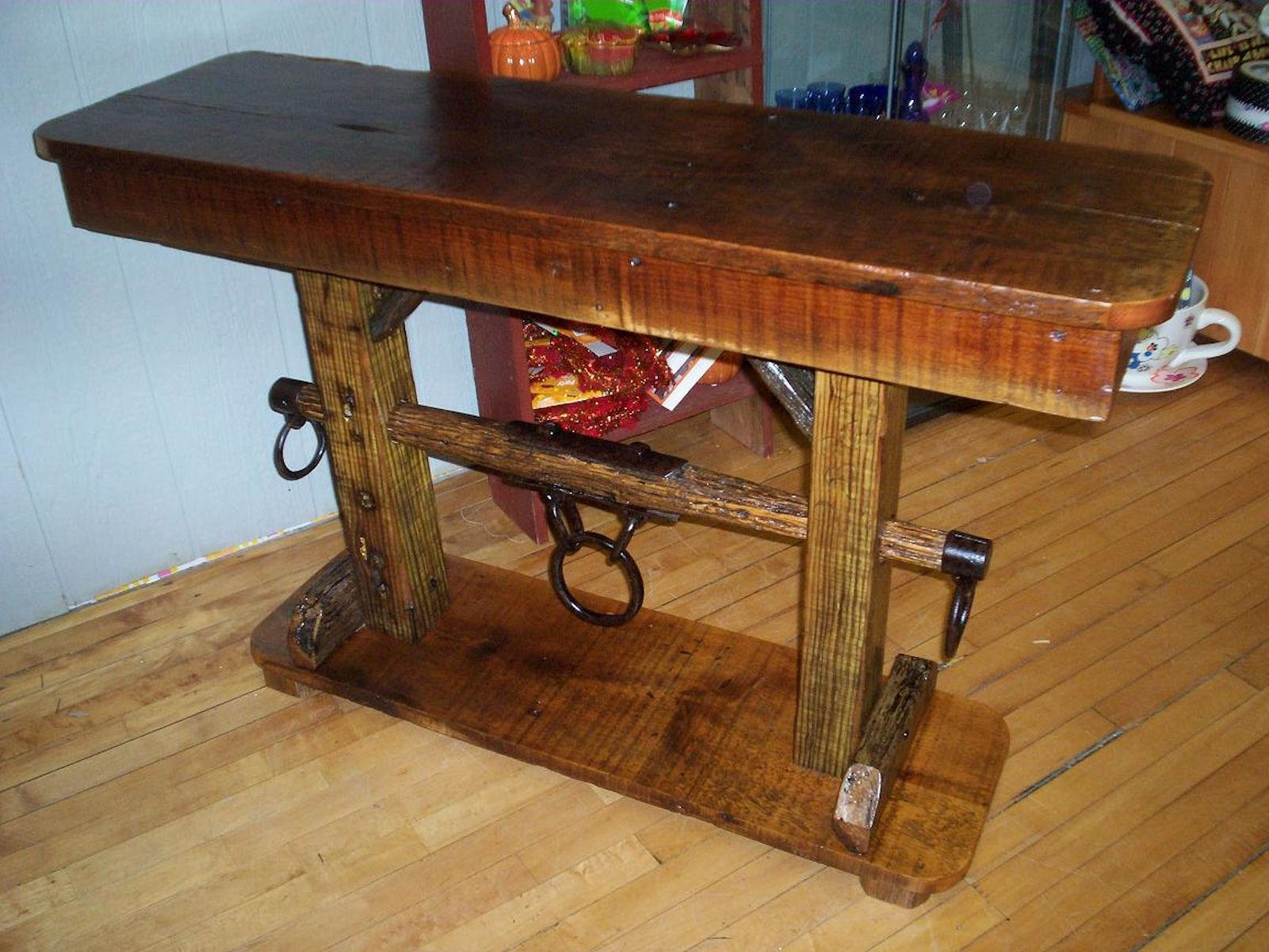 Reclaimed Barn Wood Sofa Table | Tehranmix Decoration Pertaining To Barnwood Sofa Tables (Image 12 of 20)