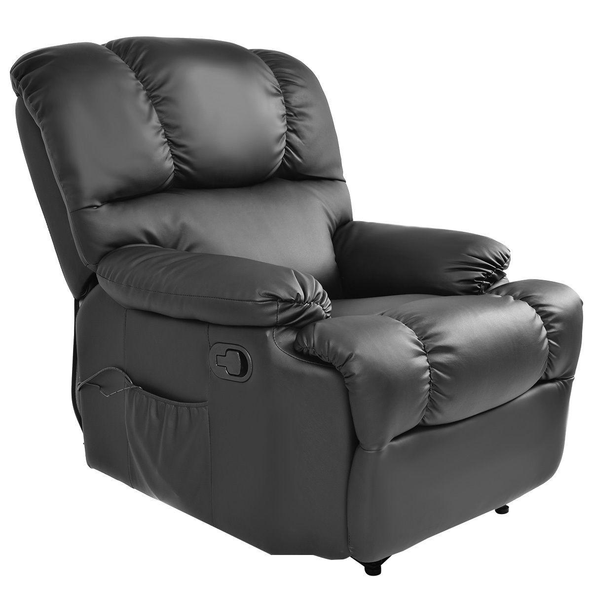 Recliner Massage Sofa Chair Deluxe Ergonomic Lounge Couch Heated W In Sofa Chair Recliner (Image 16 of 20)