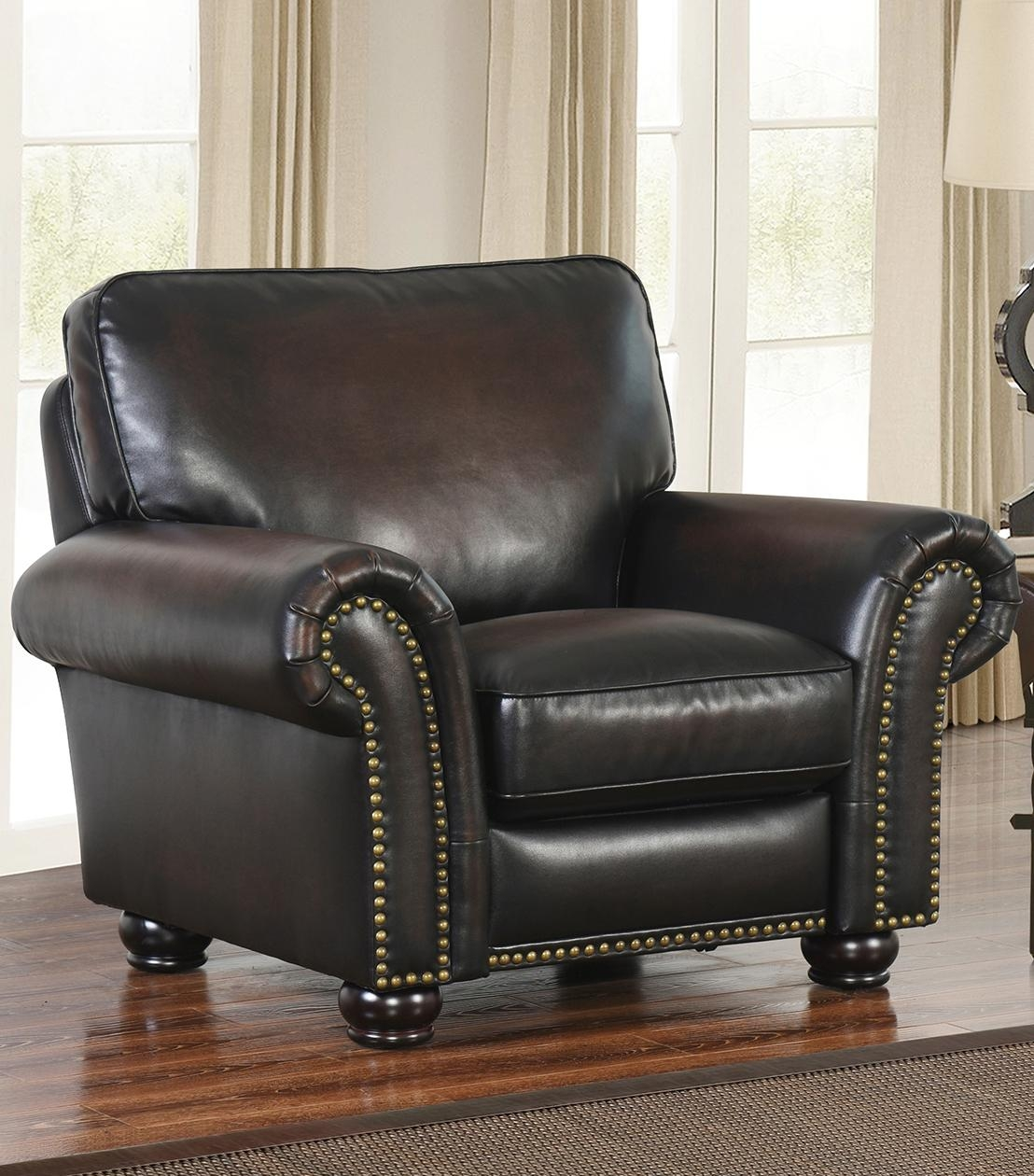 Recliners : Braxton Leather Pushback Recliner Inside Abbyson Recliners (View 4 of 20)