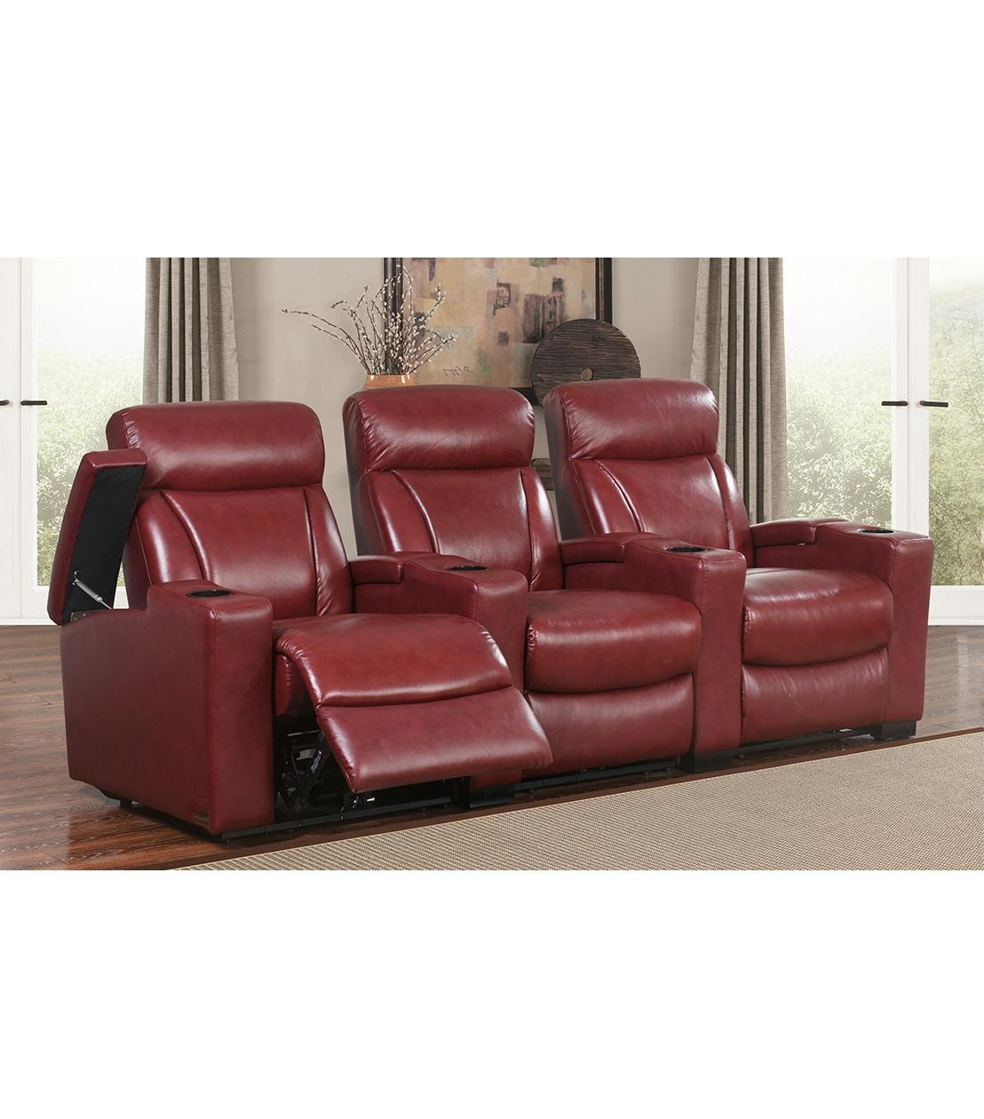 Recliners : Romano 3 Piece Recliners, Red Within Abbyson Recliners (Image 15 of 20)