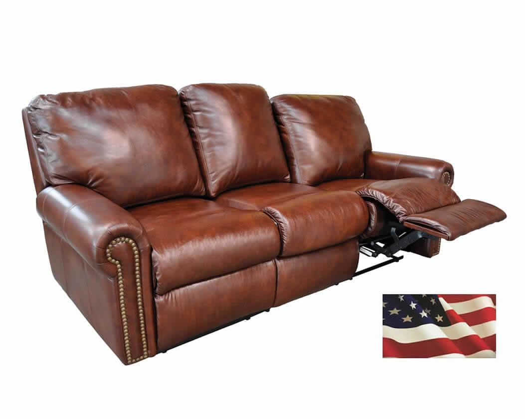 Reclining Leather Sofas | Michigan's Best | Be Seated Leather For 2 Seater Recliner Leather Sofas (Image 14 of 20)