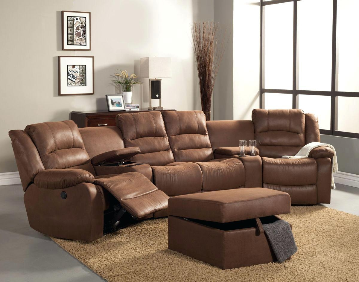 Reclining Sectionals With Cup Holders – Vupt With Regard To Theatre Sectional Sofas (Image 14 of 20)