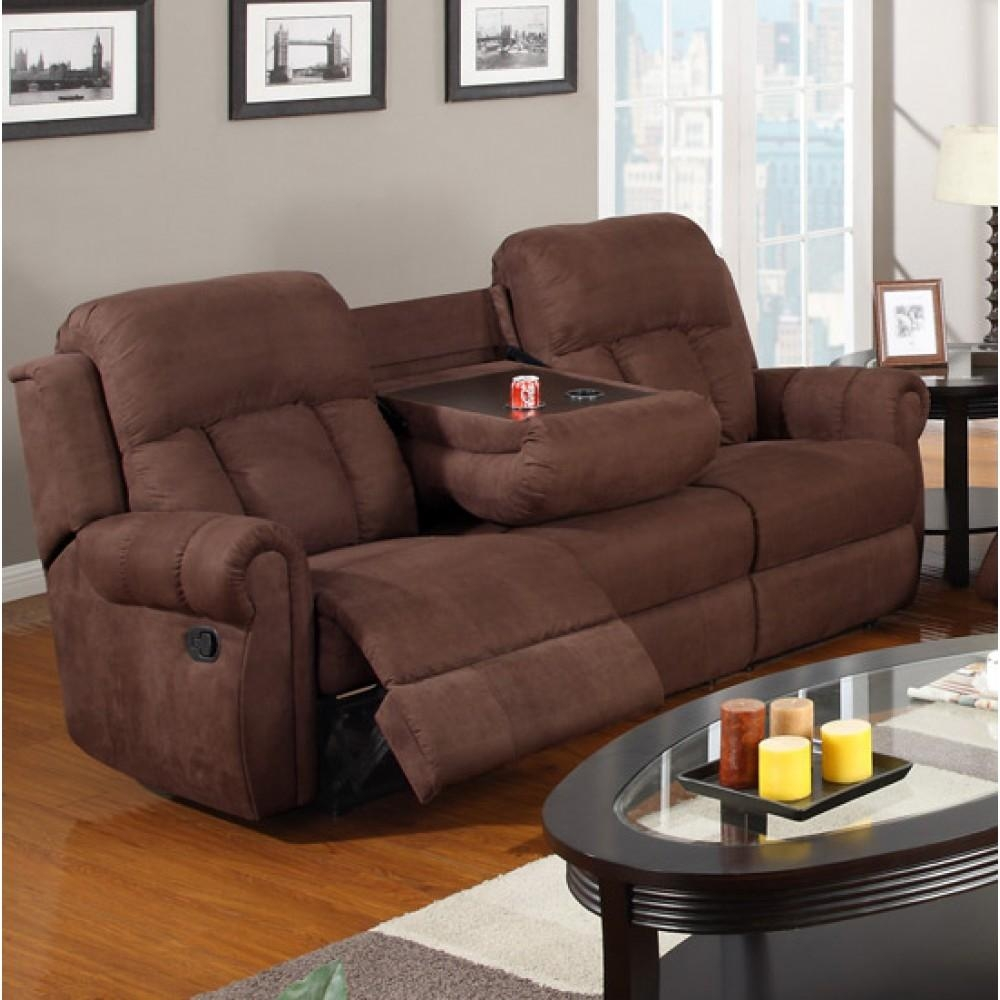 Reclining Sofa With Cup Holders | Tehranmix Decoration Regarding Sofas With Drink Holder (Image 15 of 20)
