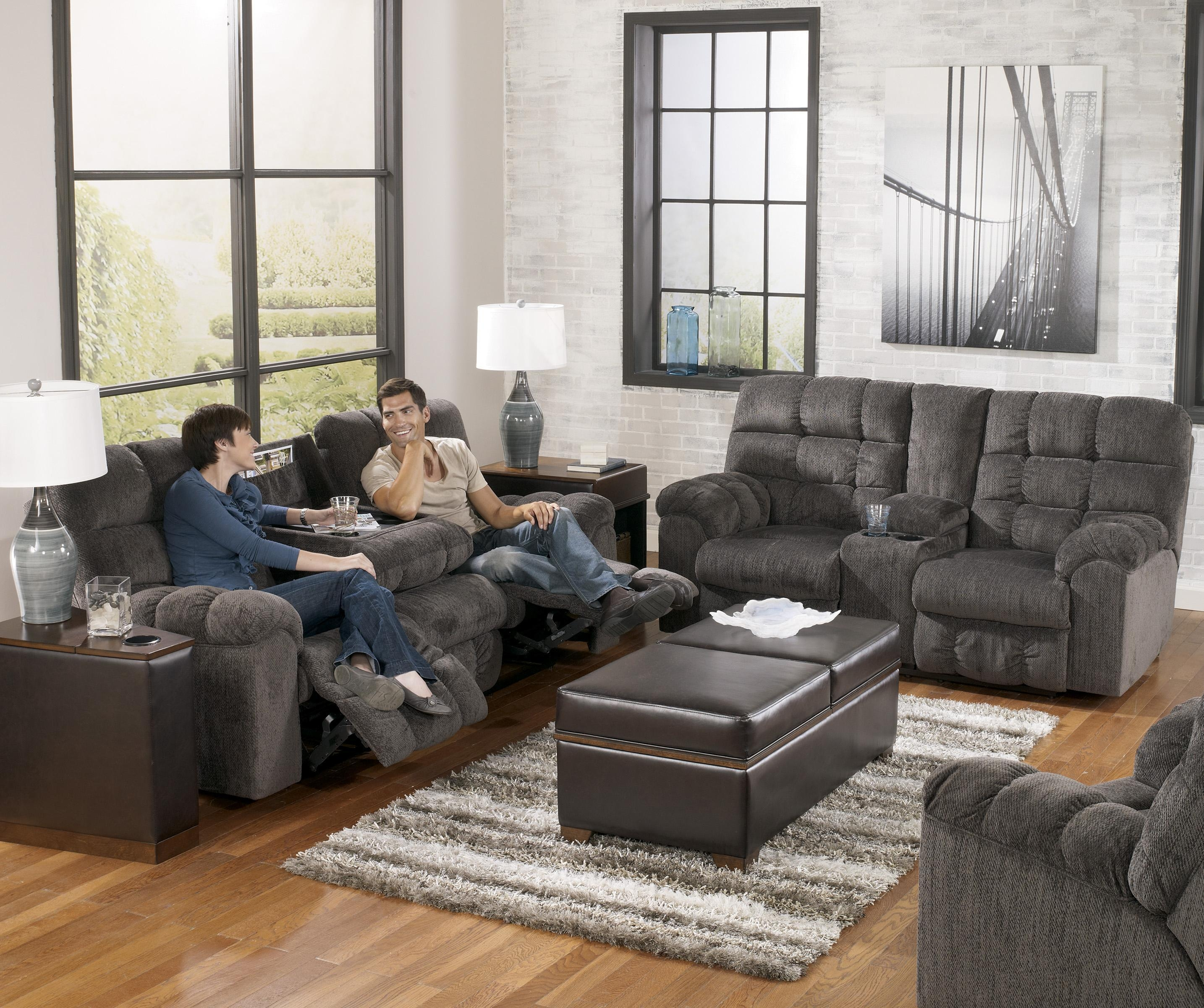 Reclining Sofa With Drop Down Table And Cup Holderssignature For Sectional With Cup Holders (Image 12 of 20)