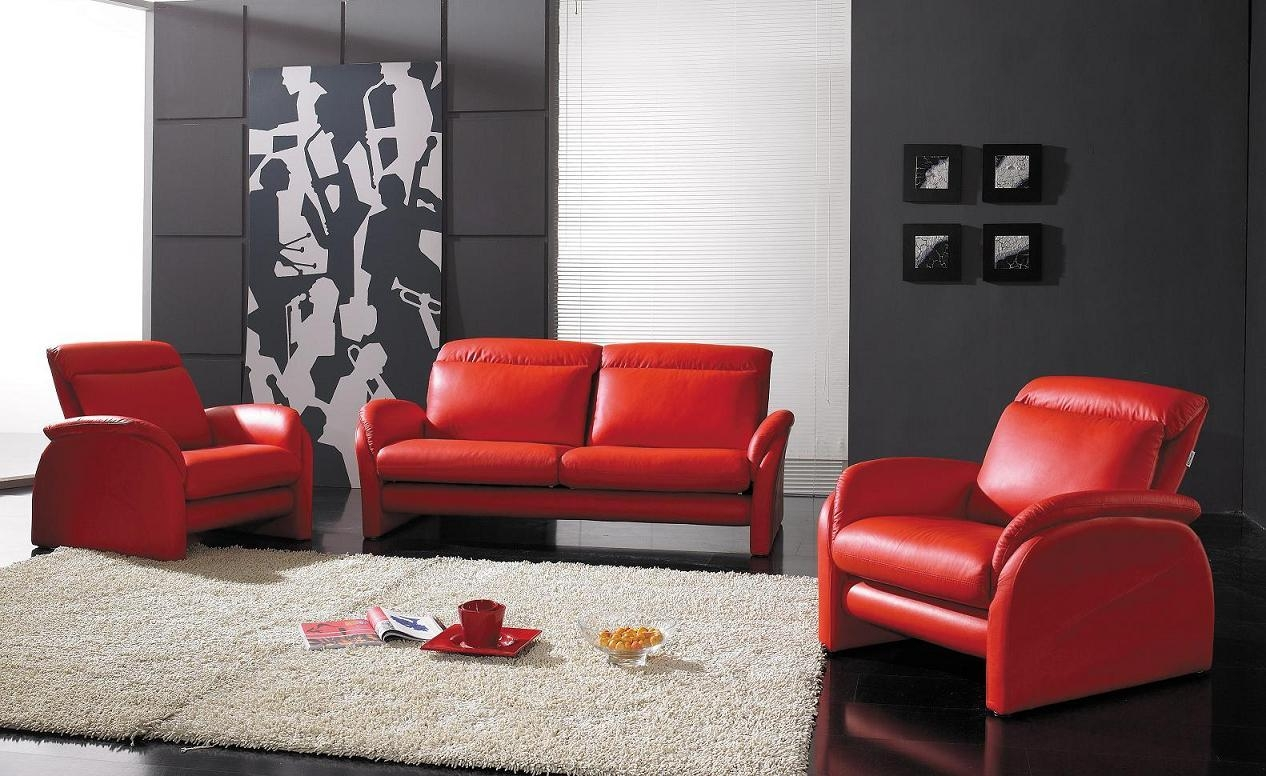 Red And Black Leather Sofa 56 With Red And Black Leather Sofa Intended For Sofa Red And Black (Image 11 of 20)